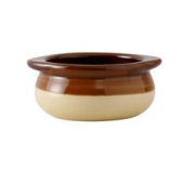 Tuxton - DuraTux Onion Soup Crock, 12 oz, Two-Tone (Brown/Beige)