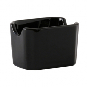 Tuxton - DuraTux Sugar Packet Holder, 3.5x2.875x2.375 Black