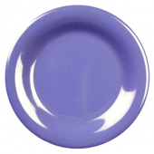 "Plate, 7.875"" Purple/Blue Melamine with Wide Rim"