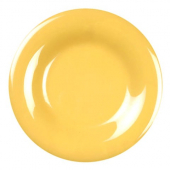 "Plate, 7.875"" Yellow Melamine with Wide Rim"