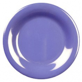 "Plate, 9.25"" Purple/Blue Melamine with Wide Rim"