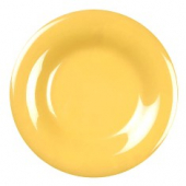 "Plate, 9.25"" Yellow Melamine with Wide Rim"