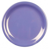 "Plate, 7.25"" Purple/Blue Melamine with Narrow Rim"