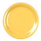 "Plate, 7.25"" Yellow Melamine with Narrow Rim"