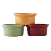 Tuxton - DuraTux Casserole Dish, 7.5 oz Assorted Color (Butterscotch, Pistachio, Cranberry)
