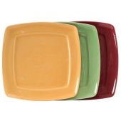 Tuxton - DuraTux Square Plate, 11x11x1.125 Assorted Color (Butterscotch, Pistachio, Cranberry) China