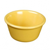 "Ramekin, 3.375"" Smooth Plastic, 4 oz Yellow"