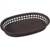 Winco - Basket, Oval Black Plastic, 10.75x7.25x1.5