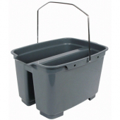 Winco - Cleaning Bucket, 19.5 Quart Double Pail, Gray Plastic