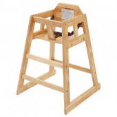 Winco - High Chair, Natural Wooden Finish, Unassembled