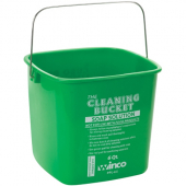 Winco - Cleaning Pail, 6 Quart Green for Soap