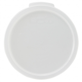 Winco - Food Storage Container Cover, Round White PP Plastic, Fits 12/18/22 qt Containers