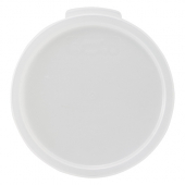 Winco - Food Storage Container Cover, Round White PP Plastic, Fits 6/8 qt Containers