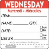 "Label, 2"" Square, ""Wednesday"""