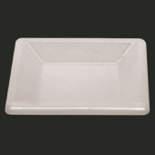 "Plate, 4"" Square Passion White Melamine"