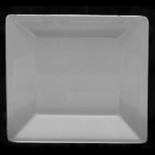 Plate, 8.25x8.25 Square Passion White Melamine