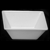Bowl, 11 oz Square Passion White Melamine, 4.75x4.75x2