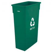 Winco - Trash Can, 23 Gallon Slender Green Recycle