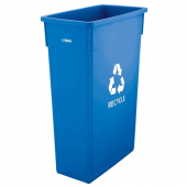 Winco - Trash Can, 23 Gallon Slender Blue Recycle