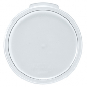 Winco - Food Storage Container Cover, Round Translucent PP Plastic, Fits 12/18/22 qt Containers