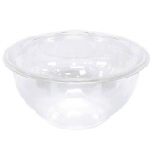 Swirl Bowl with Lid, 24 oz Clear Plastic