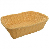 Winco - Basket, Natural Rectangular Solid-Cord Poly Woven Basket, 11.5x8.5x3.5