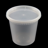 EarthPack - Deli Container Combo, 24 oz Clear Plastic