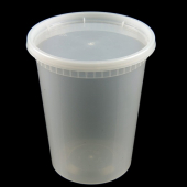 EarthPack - Deli Container Combo, 32 oz Clear Plastic