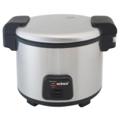Winco - Advanced Electric Rice Cooker/Warmer with Hinged Cover, Holds 30 Cups Uncooked