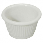 Winco - Fluted Ramekin, 1.5 oz White Melamine