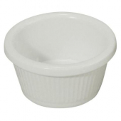Winco - Fluted Ramekin, 2 oz White Melamine