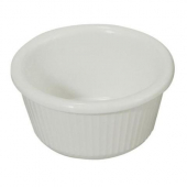 Winco - Fluted Ramekin, 3 oz White Melamine