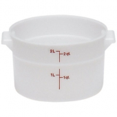 Cambro - Poly Rounds Food Storage Container, 2 Quart Round White Poly Plastic