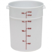 Cambro - Poly Rounds Food Storage Container, 22 Quart Round White Poly Plastic
