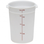 Cambro - Poly Rounds Food Storage Container, 8 Quart Round White Poly Plastic