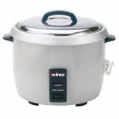Winco - Electric Rice Cooker with Cover, Inner Pot, Measuring Cup and Serving Paddle, Holds 30 Cups