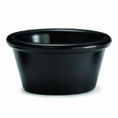Winco - Plain Ramekin, 4 oz Black Melamine