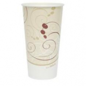 "Solo - Cup, 28 oz ""Symphony"" Double Sided Poly Paper Cold Cup"