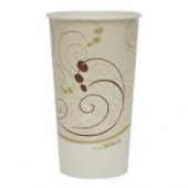 "Solo - Cup, 21 oz ""Symphony"" Double Sided Poly Paper Cold Cup"