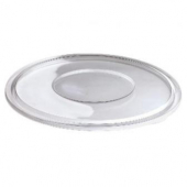 Sabert - Flat Lid, Fits 18-32 oz Bowl, Round Clear PET Plastic
