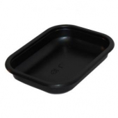 Sabert - Food Tray, 16 oz Rectangular Black CPET Plastic
