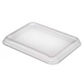 Sabert - Food Tray Lid, Fits 12-25 oz Trays, 5x6.6 Clear PET Plastic