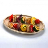 Sabert - Platter, 9x12 Large Oval Molded Fiber Pulp