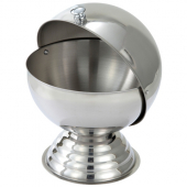 Winco - Roll-Top Sugar Bowl, 20 oz Stainless Steel