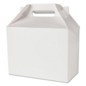 Southern Champion Tray - Carryout Barn Box, 8x4x3 White Paperboard with Lid Vent