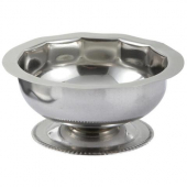 Winco - Sherbet Dish with Footed Base, 5 oz Stainless Steel
