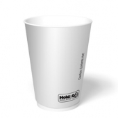 Hold & Go - Hot Cup, 12 oz White Insulated Paper