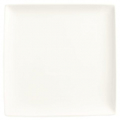 "World Tableware - Slate Square Coupe Plate, 10.875"" Ultra Bright White Porcelain"
