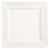"World Tableware - Slate Select Square Plate, 10.625"" Ultra Bright White Porcelain"
