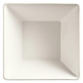 World Tableware - Slate Square Bowl, 10 oz Ultra Bright White Porcelain, 4.5""